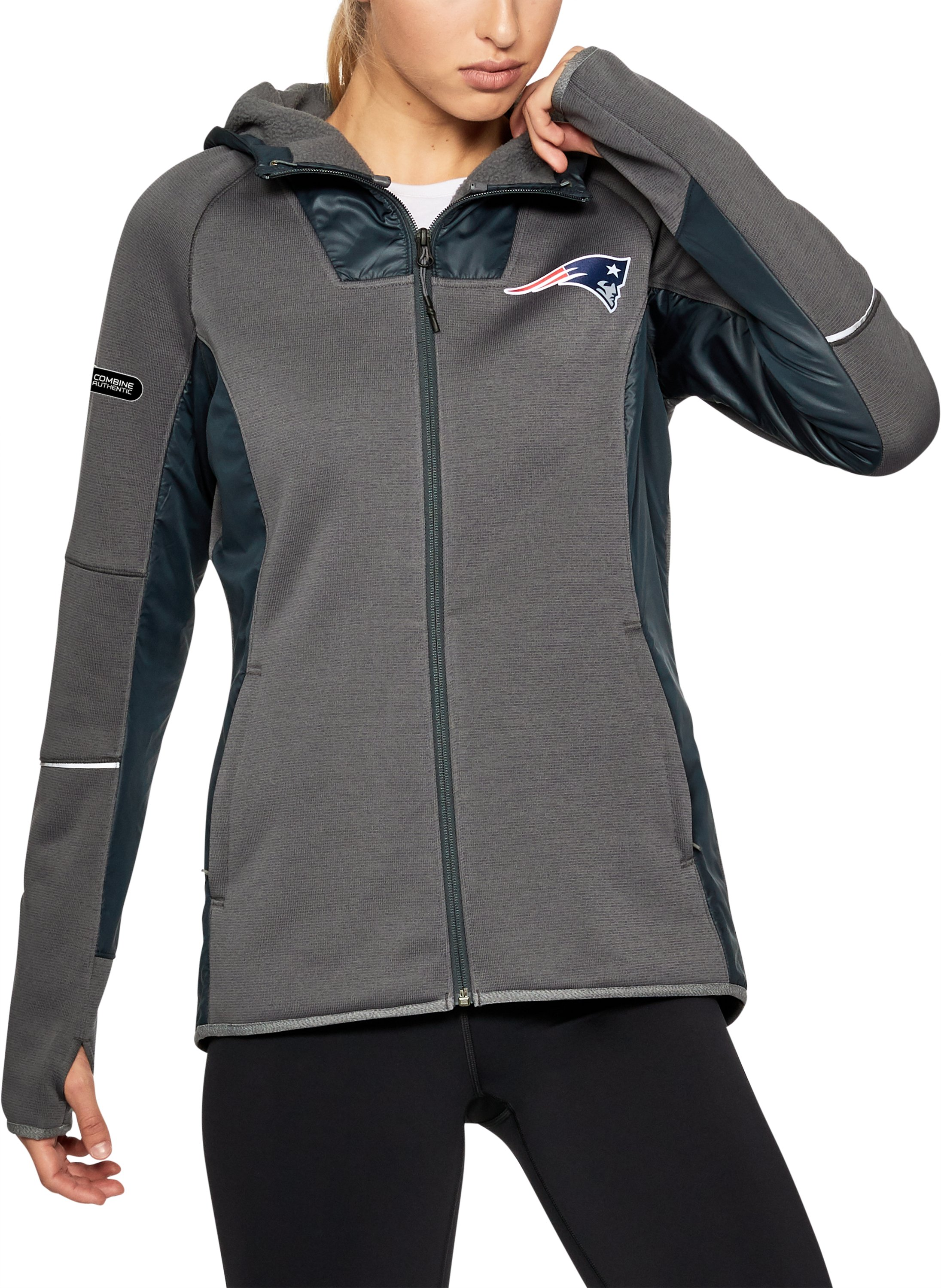 Women's NFL Combine Authentic Swacket, NFL_NEW ENGLAND PATRIOTS_STEALTH GRAY, zoomed