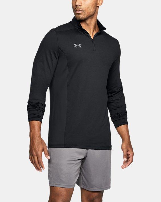 Men's UA Challenger II Midlayer Shirt, Black, pdpMainDesktop image number 0