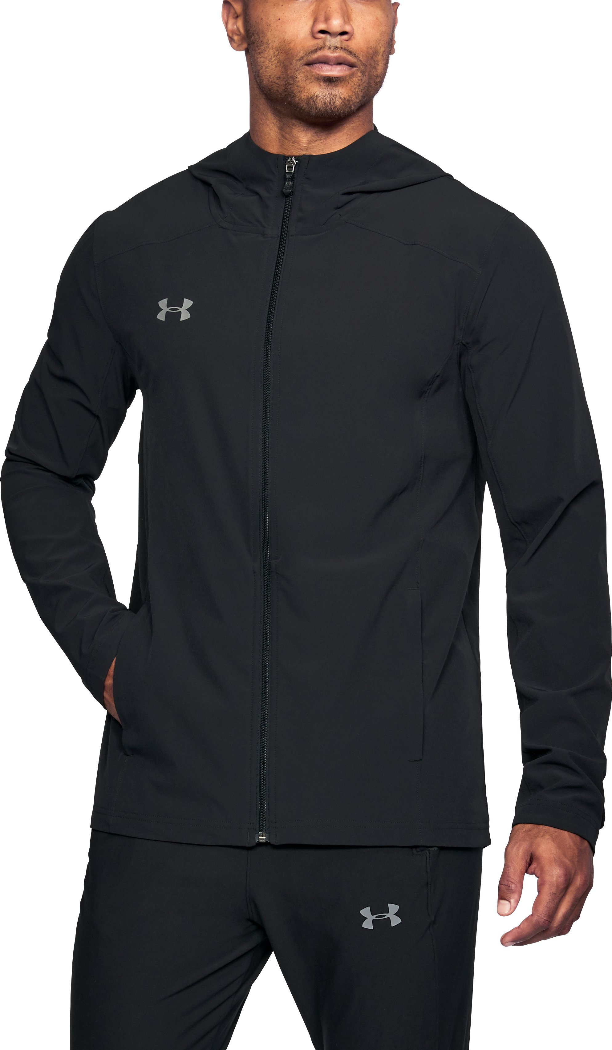 Men's UA Challenger II Storm Shell Jacket, Black ,