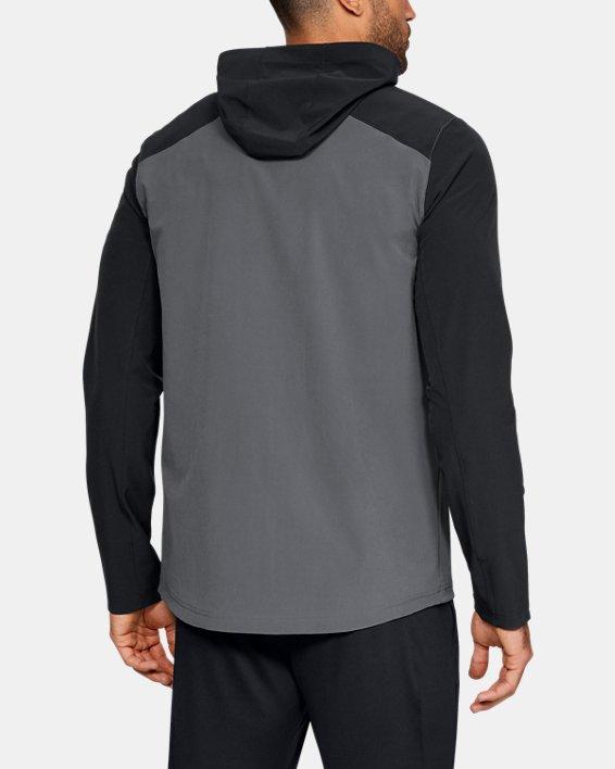 Men's UA Challenger II Storm Shell Jacket, Gray, pdpMainDesktop image number 2