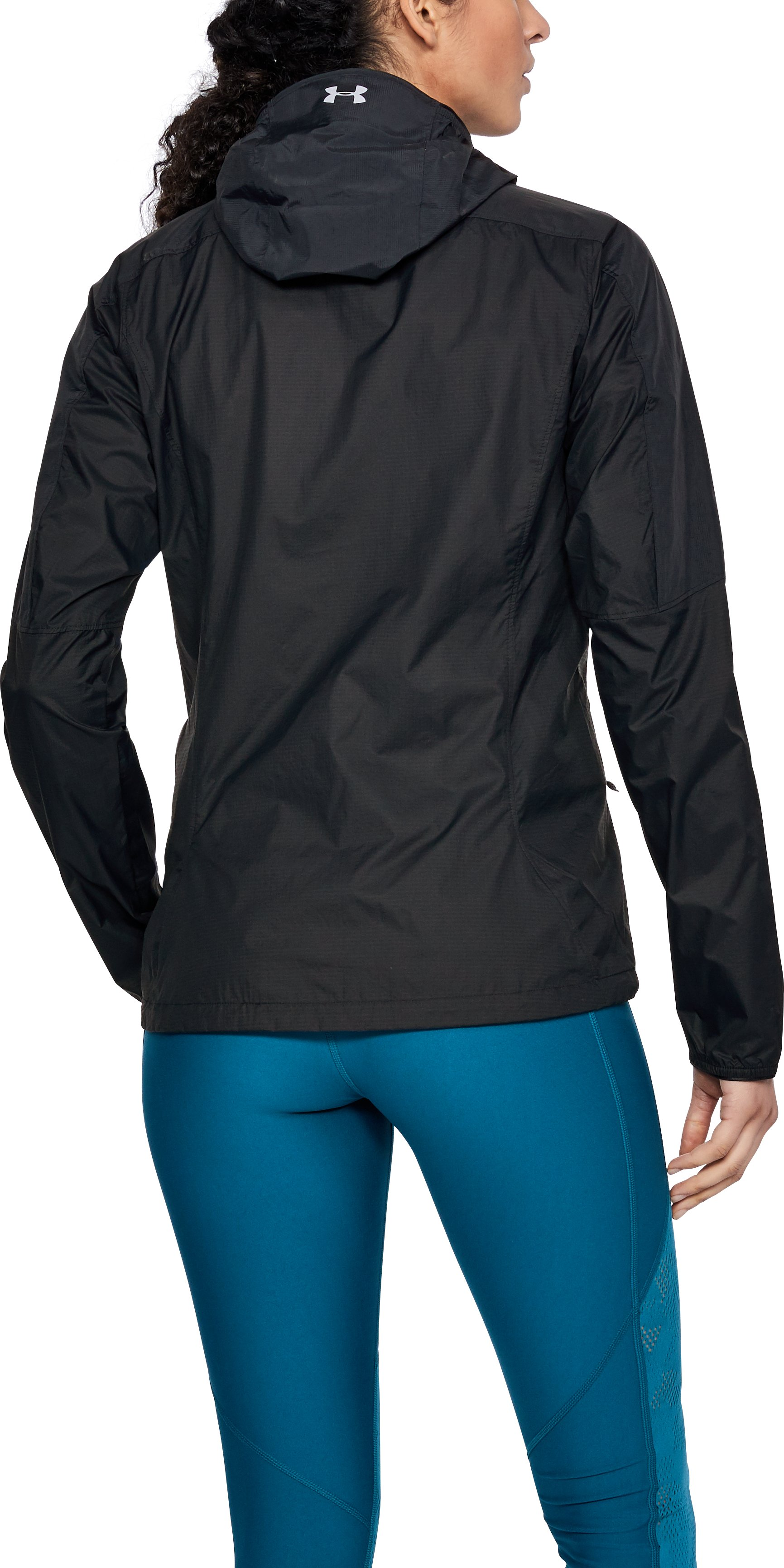 Women's UA Scrambler Hybrid Jacket, Black ,