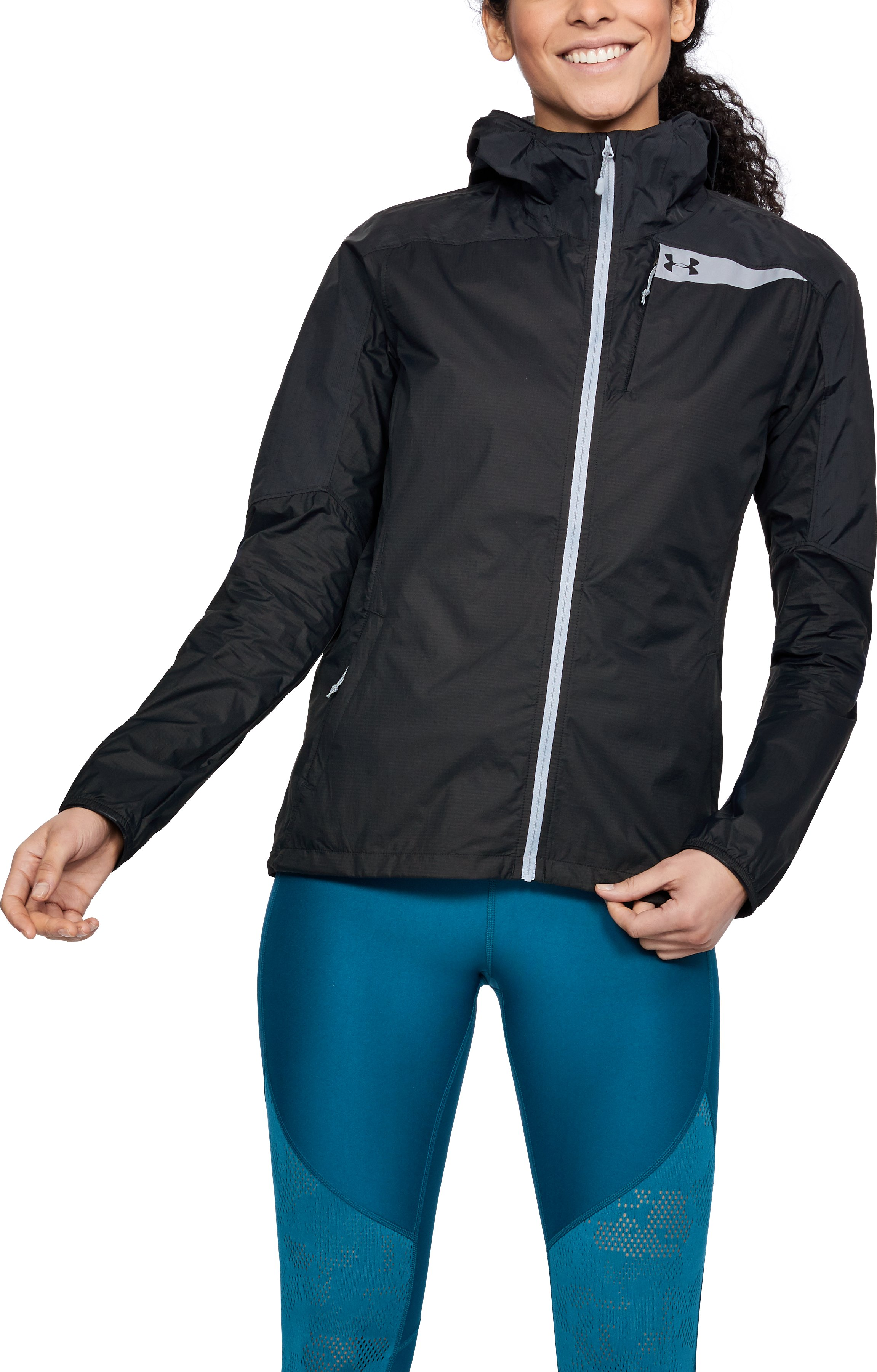 Women's UA Scrambler Hybrid Jacket, Black