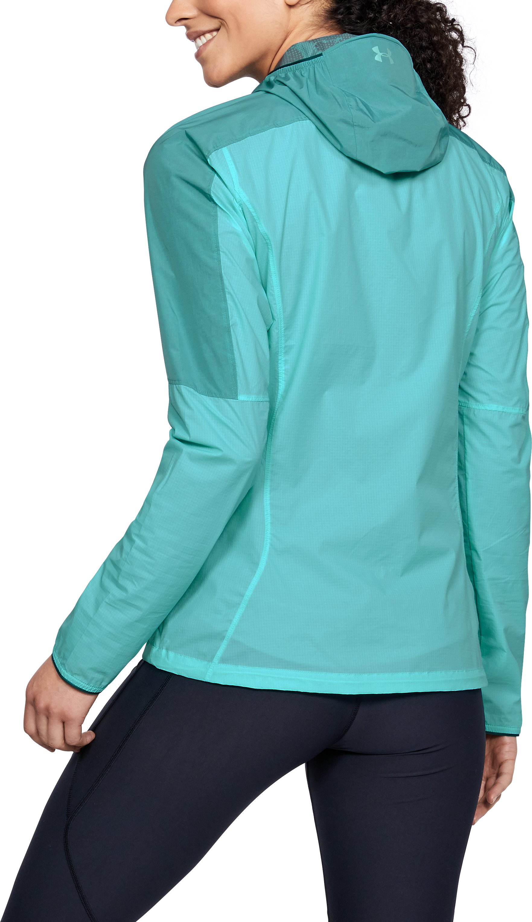 Women's UA Scrambler Hybrid Jacket, TROPICAL TIDE,