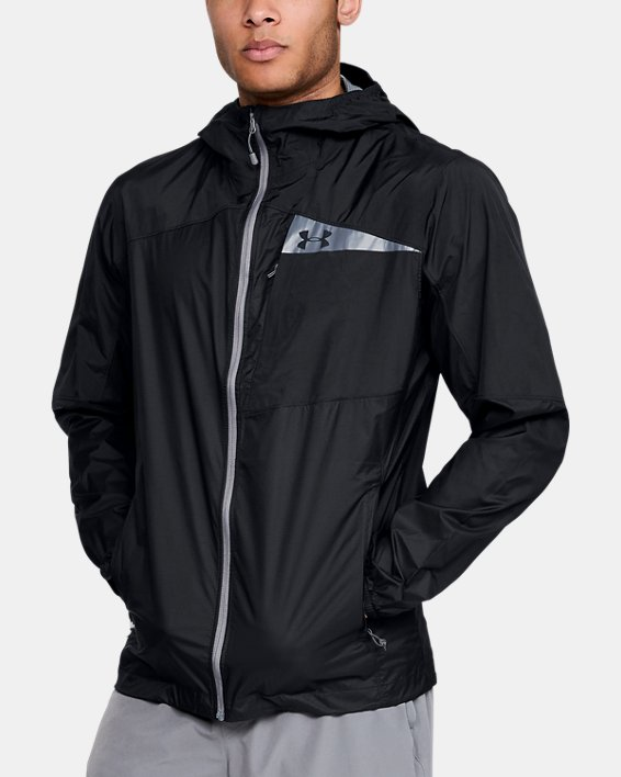 Men's UA Scrambler Hybrid Jacket, Black, pdpMainDesktop image number 0