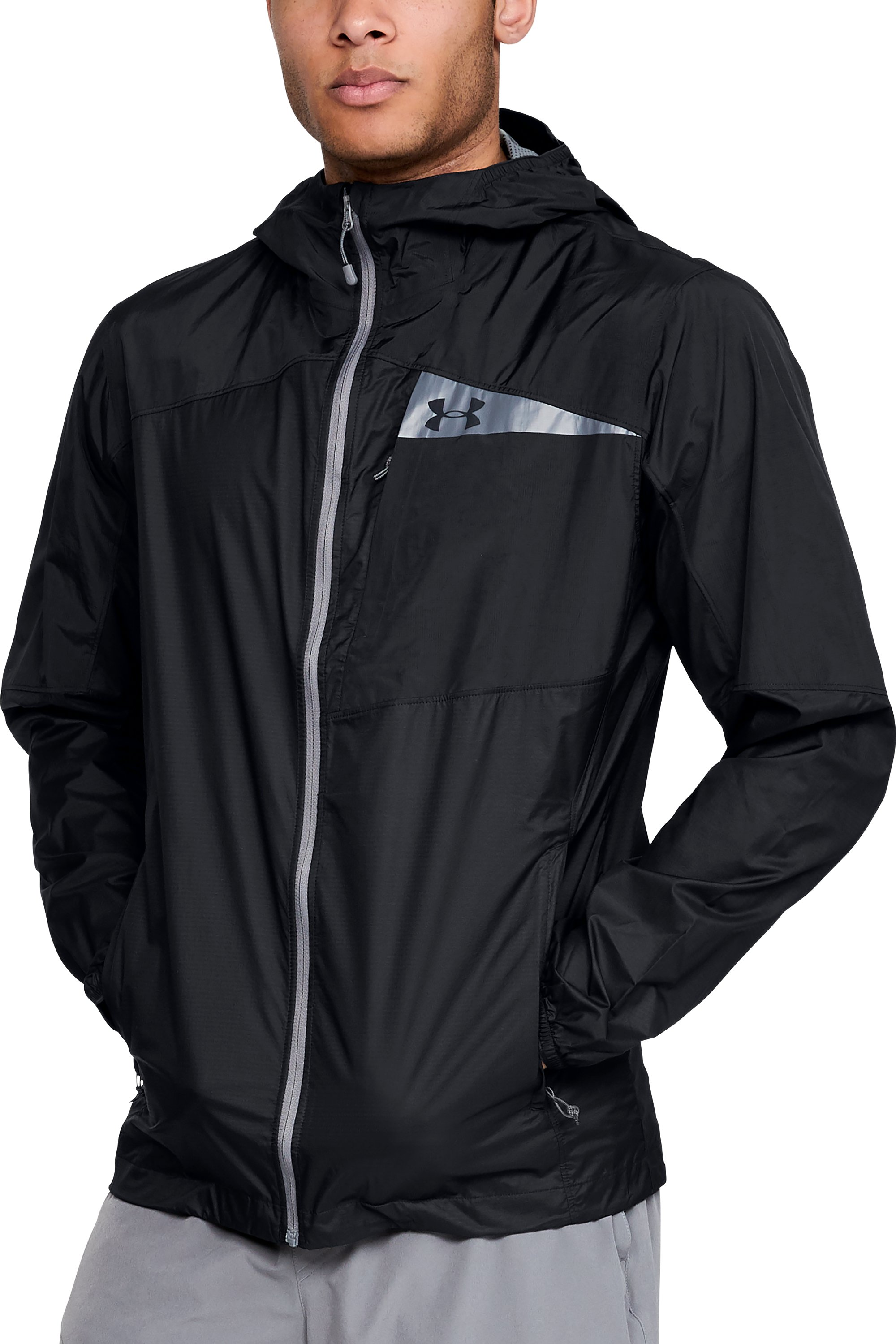 Men's UA Scrambler Hybrid Jacket, Black