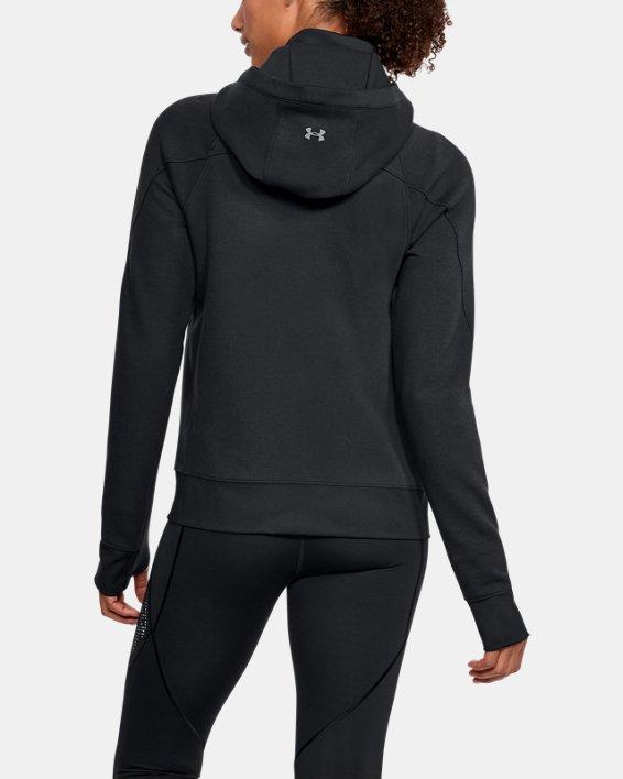 Women's UA Spacer Full Zip Jacket, Black, pdpMainDesktop image number 2
