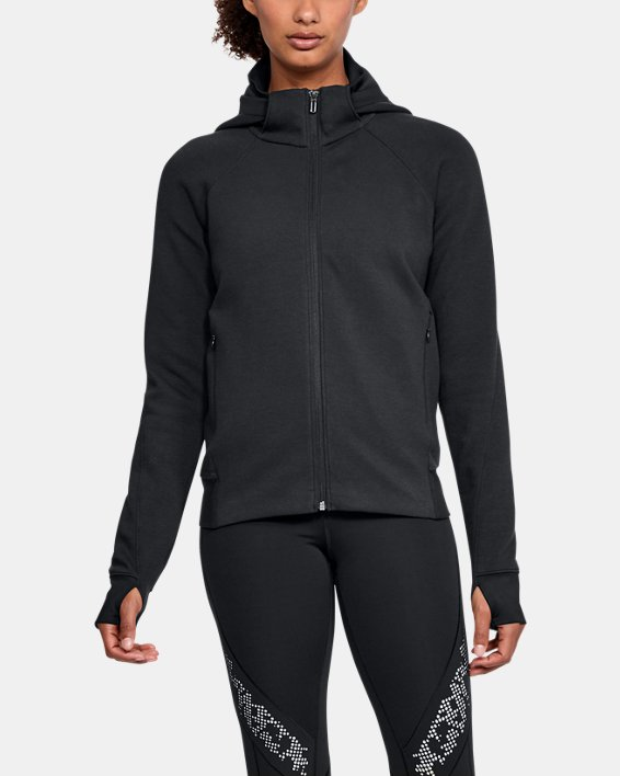 Women's UA Spacer Full Zip Jacket, Black, pdpMainDesktop image number 0