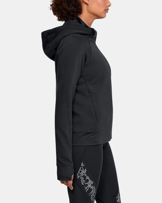 Women's UA Spacer Full Zip Jacket, Black, pdpMainDesktop image number 3