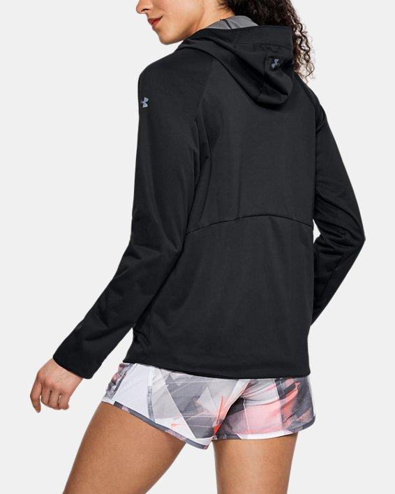 Women's UA Run Storm Anorak Jacket, Black, pdpMainDesktop image number 2