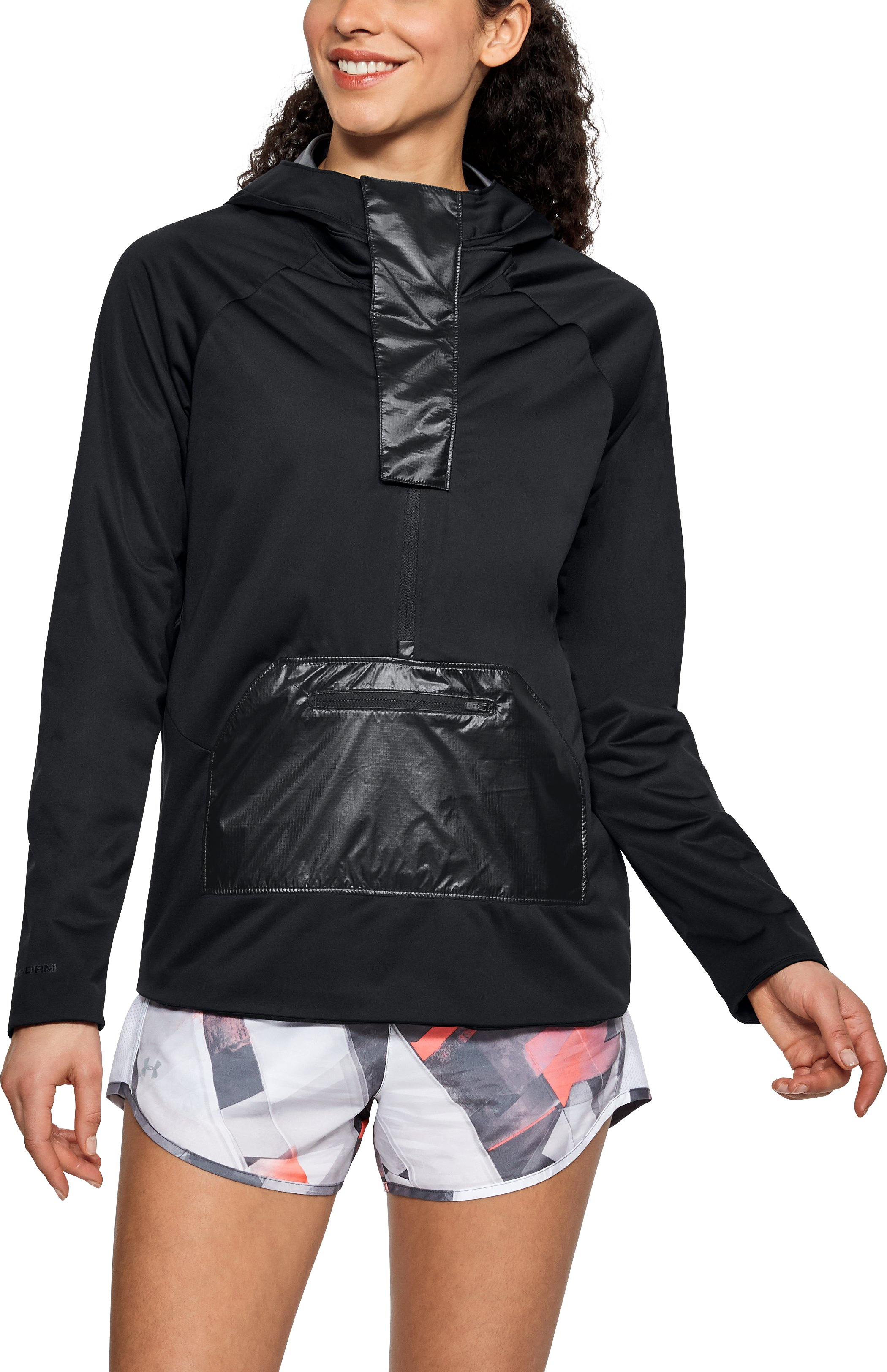 Women's UA Run Storm Anorak Jacket, Black ,