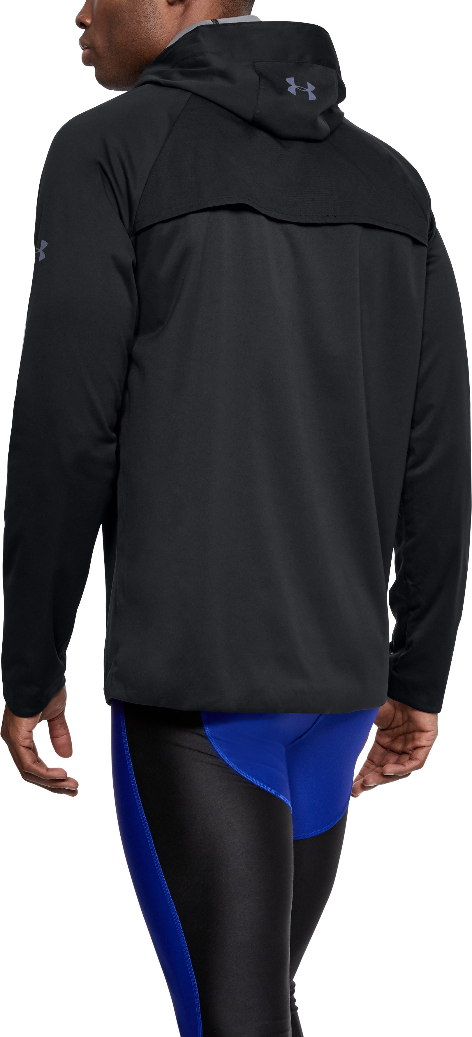 Men's UA Storm Anorak Jacket, Black ,