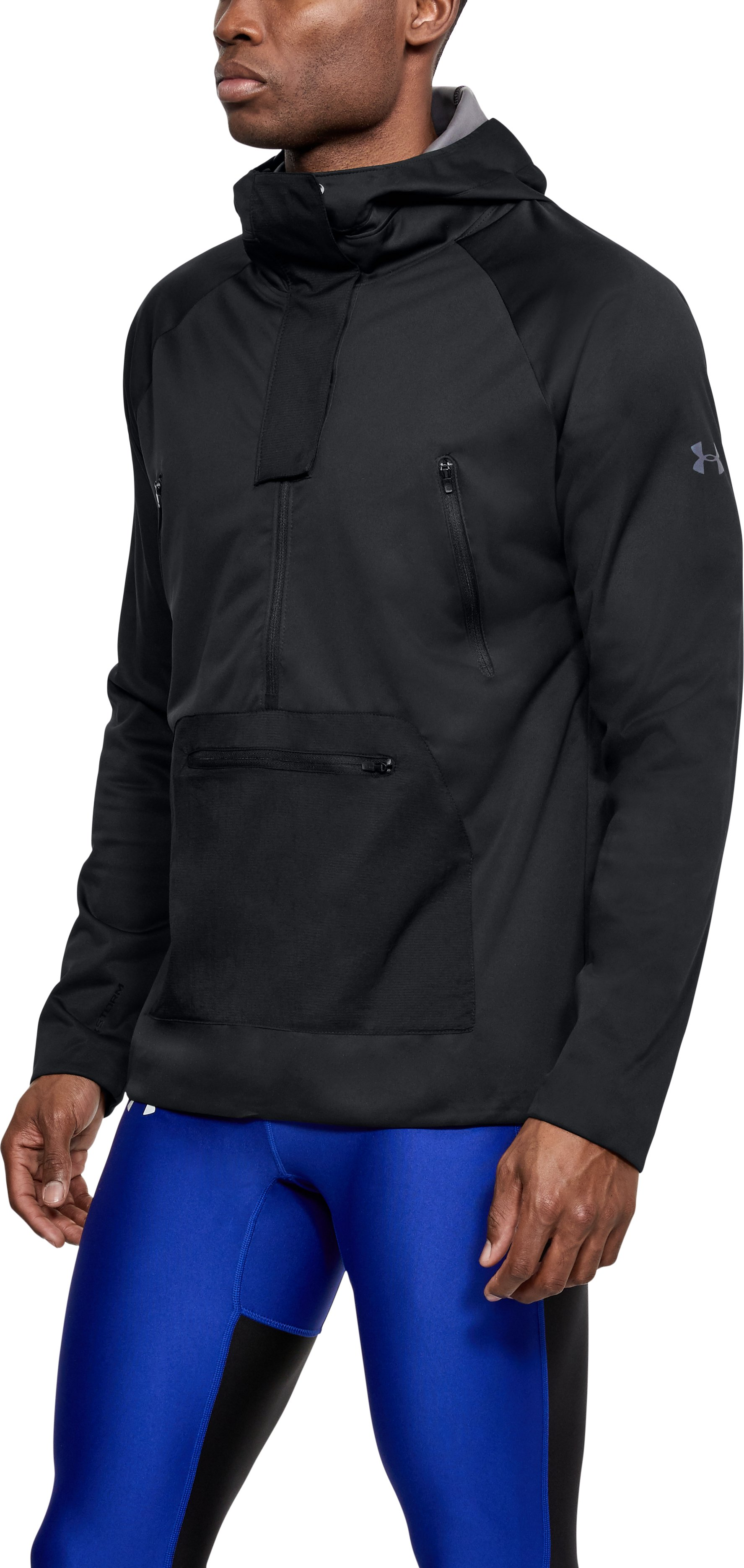 Men's UA Storm Anorak Jacket, Black , undefined