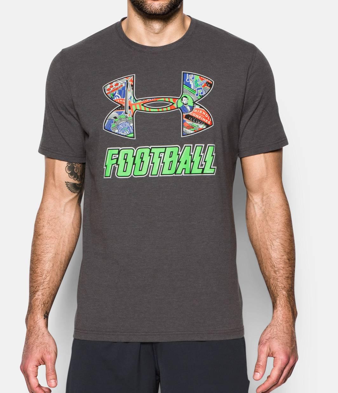 Men 39 s ua illinois football t shirt under armour us for Under armor football shirts