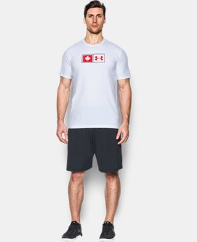 Men's UA Canada Flag Lock Up T-Shirt  1 Color $29.99