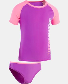 Girls' Pre-School UA Oasis Rashguard Set  1 Color $35.99