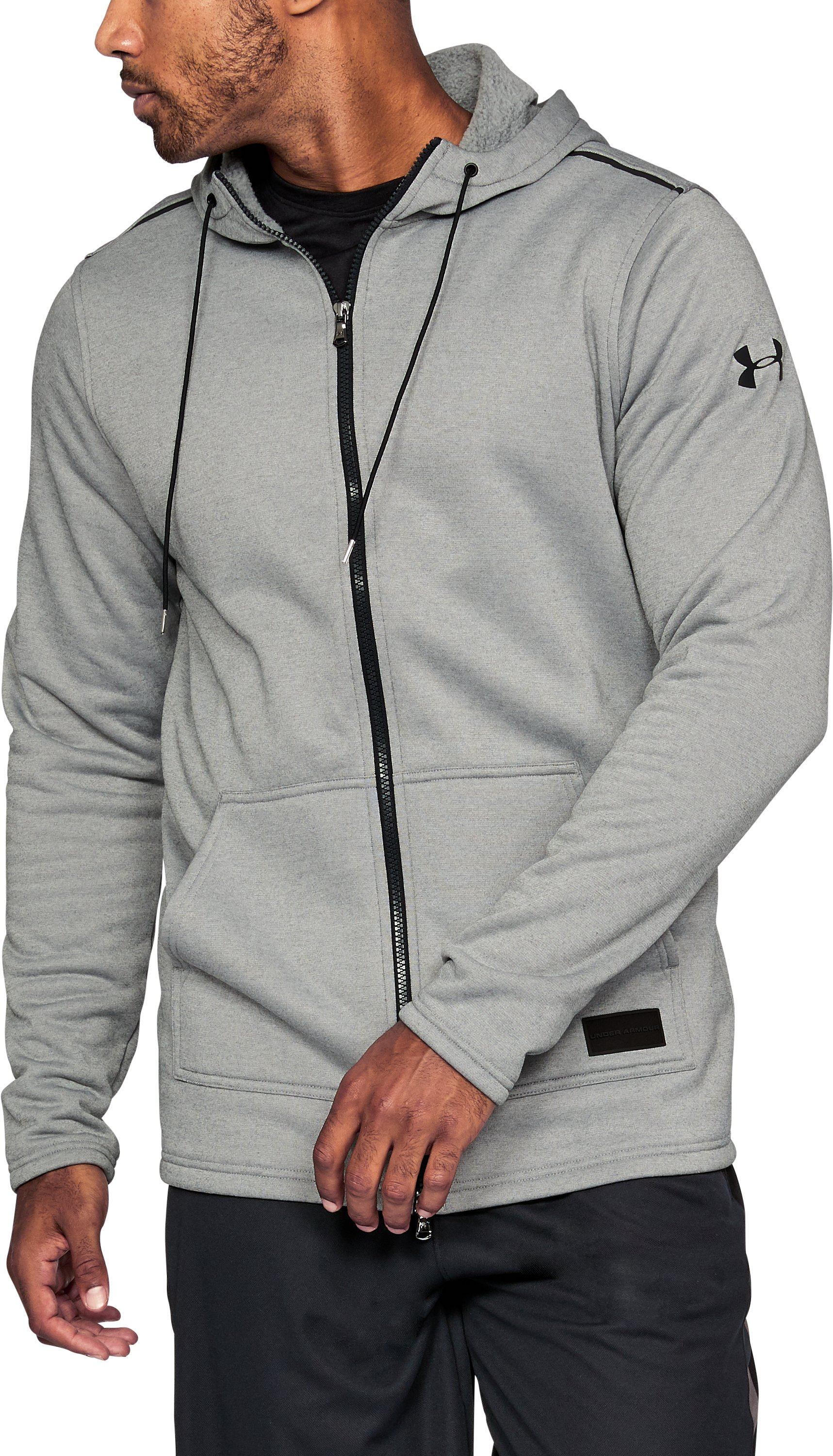 Men's UA Pursuit Hoodie, True Gray Heather,