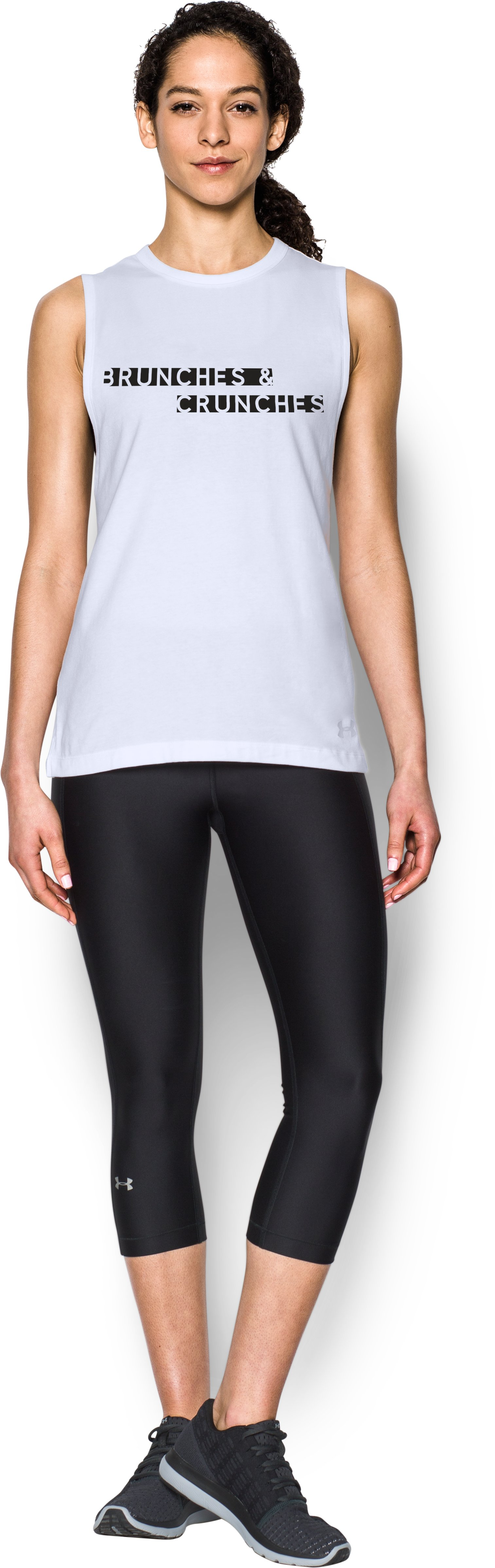 Women's UA Brunch Crunch Muscle T, White, zoomed image