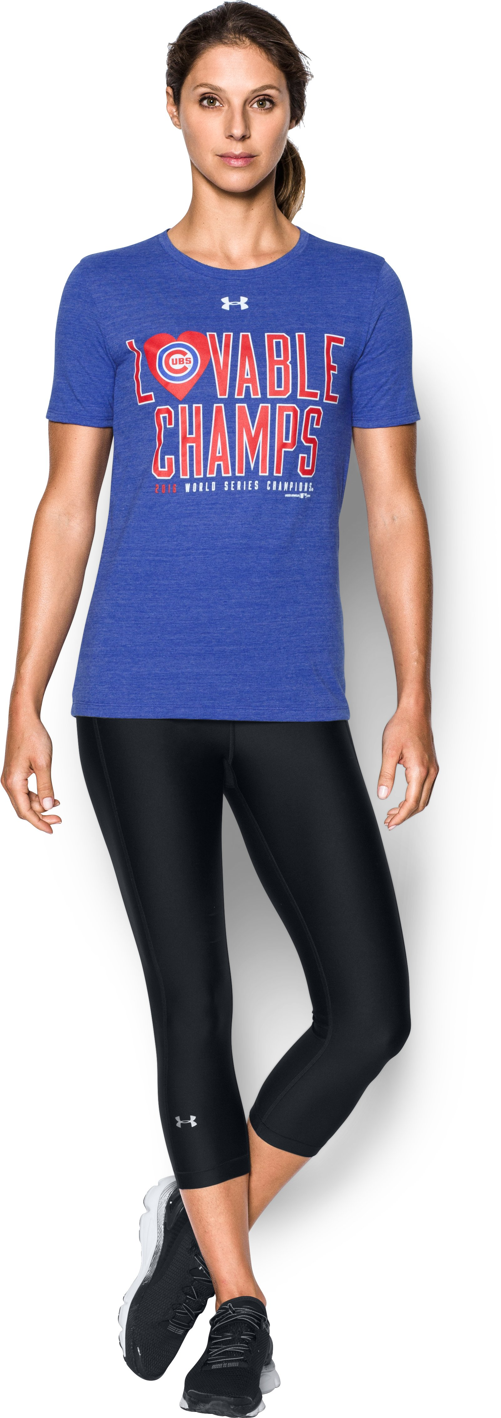 Women's Chicago Cubs Lovable Champ T-Shirt, Royal, Front