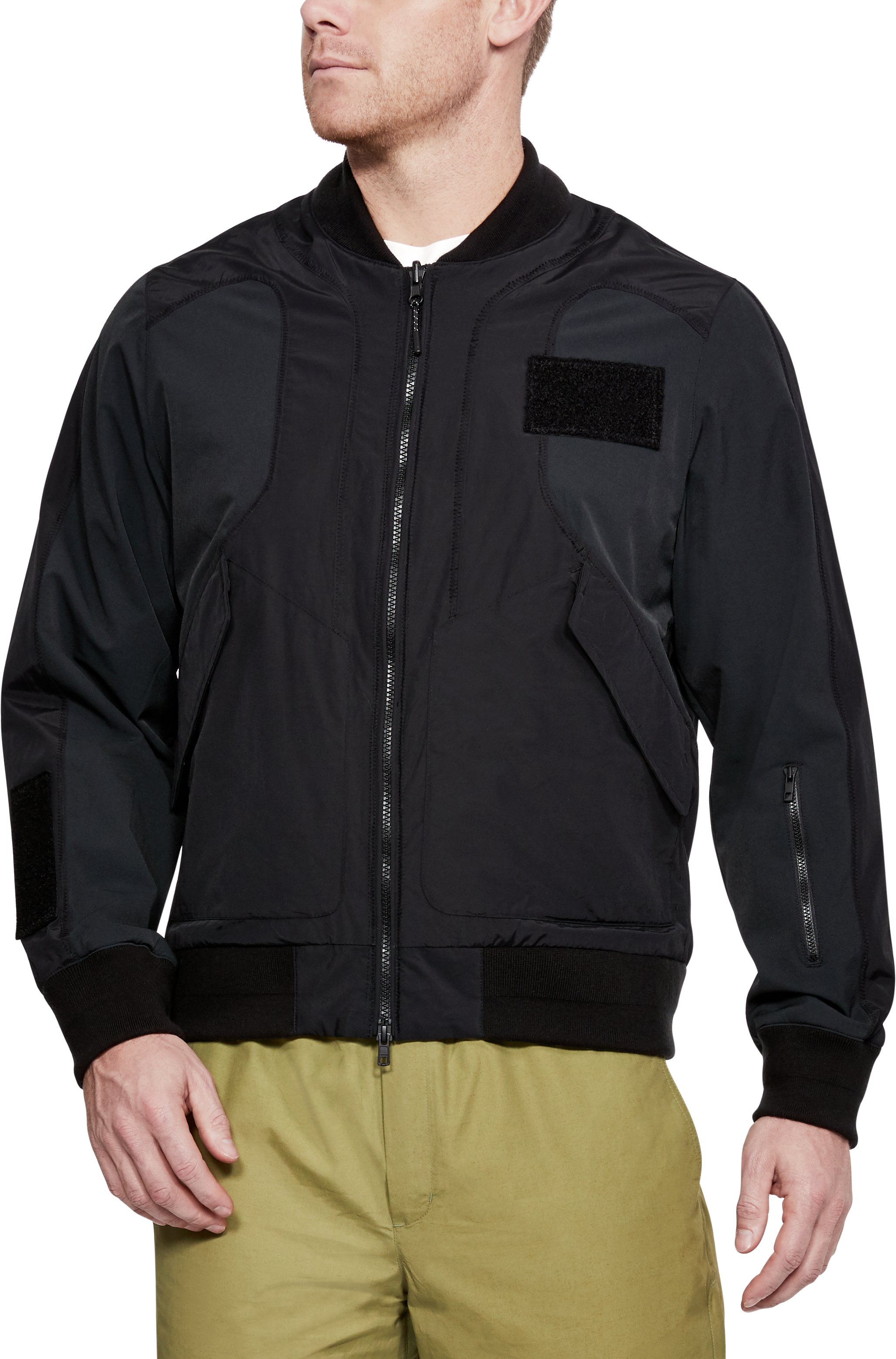 Men's UAS Nylon Bomber Jacket, Black