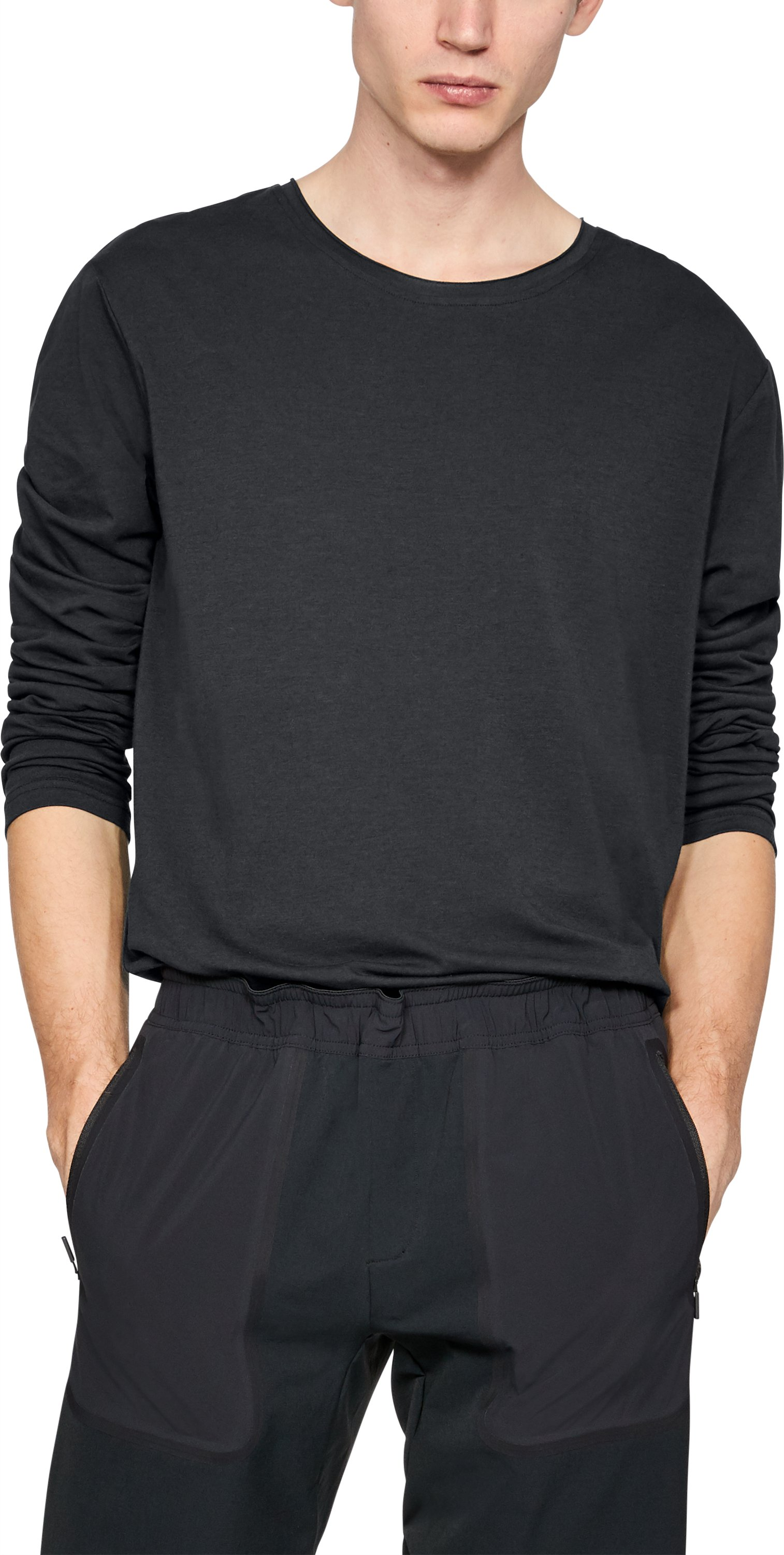 Men's UAS Highline Crew Long Sleeve, Black ,