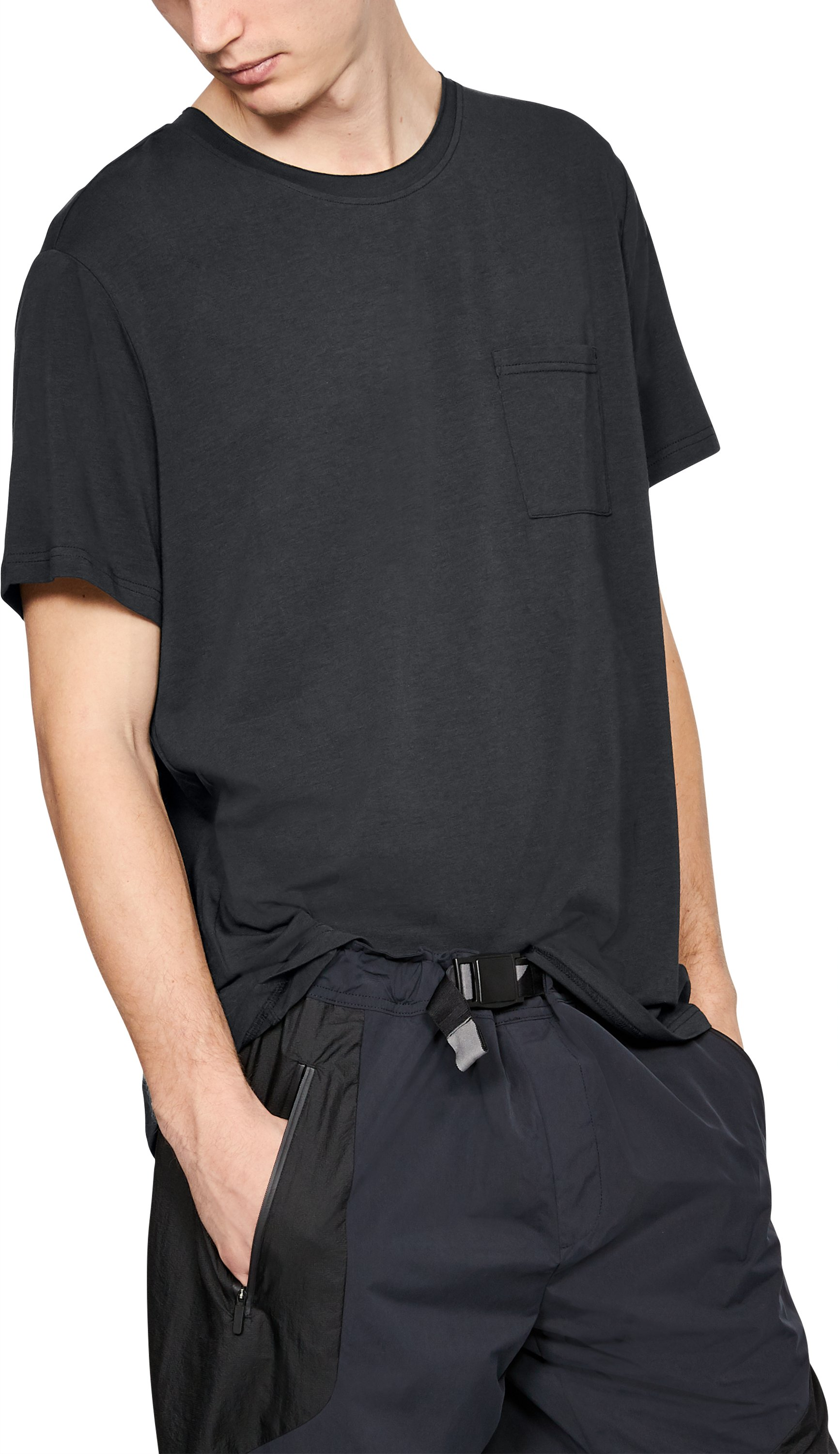 Men's UAS Highline Pocket Crew T-Shirt, Black ,