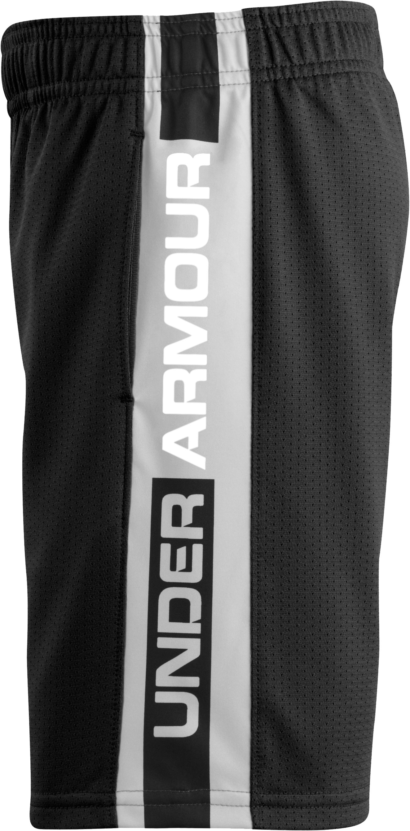 Boys' Toddler UA Mesh Eliminator Shorts, Black , undefined