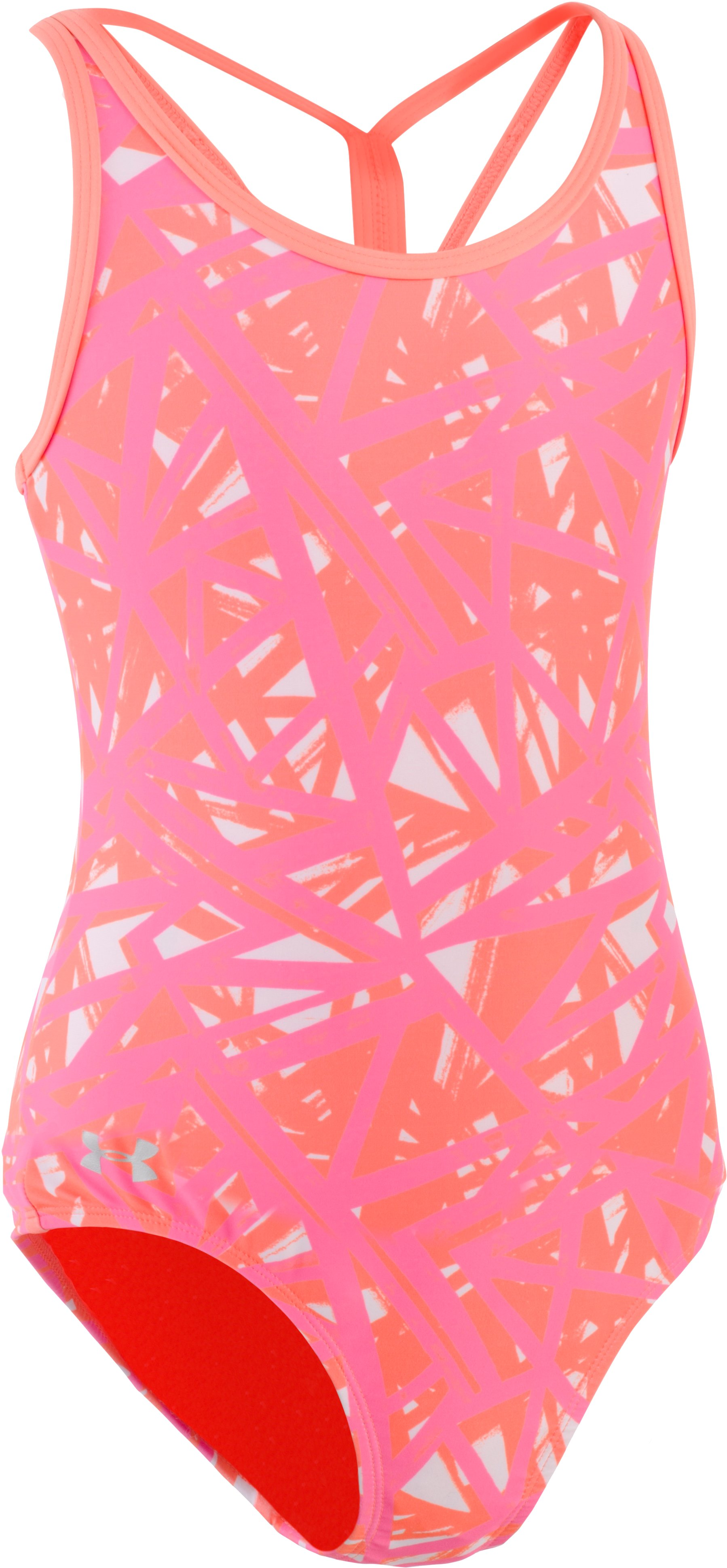 Girls' UA Divergent 1-Piece, LONDON ORANGE, zoomed image