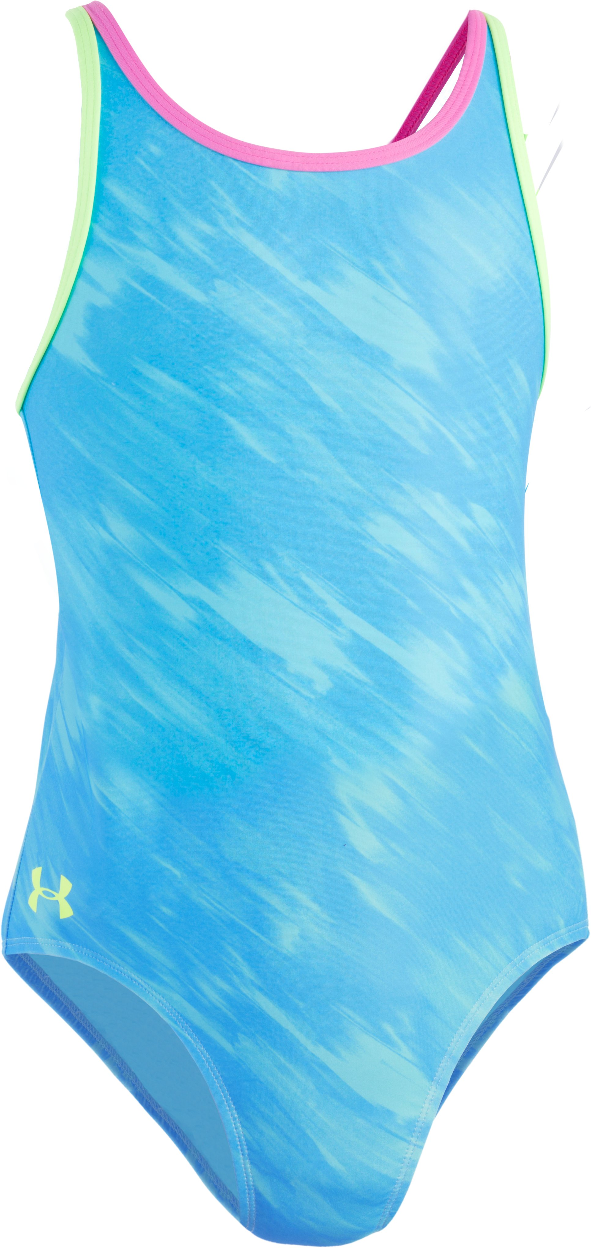 Girls' UA Oasis 1-Piece Swim Suit, MERIDIAN BLUE