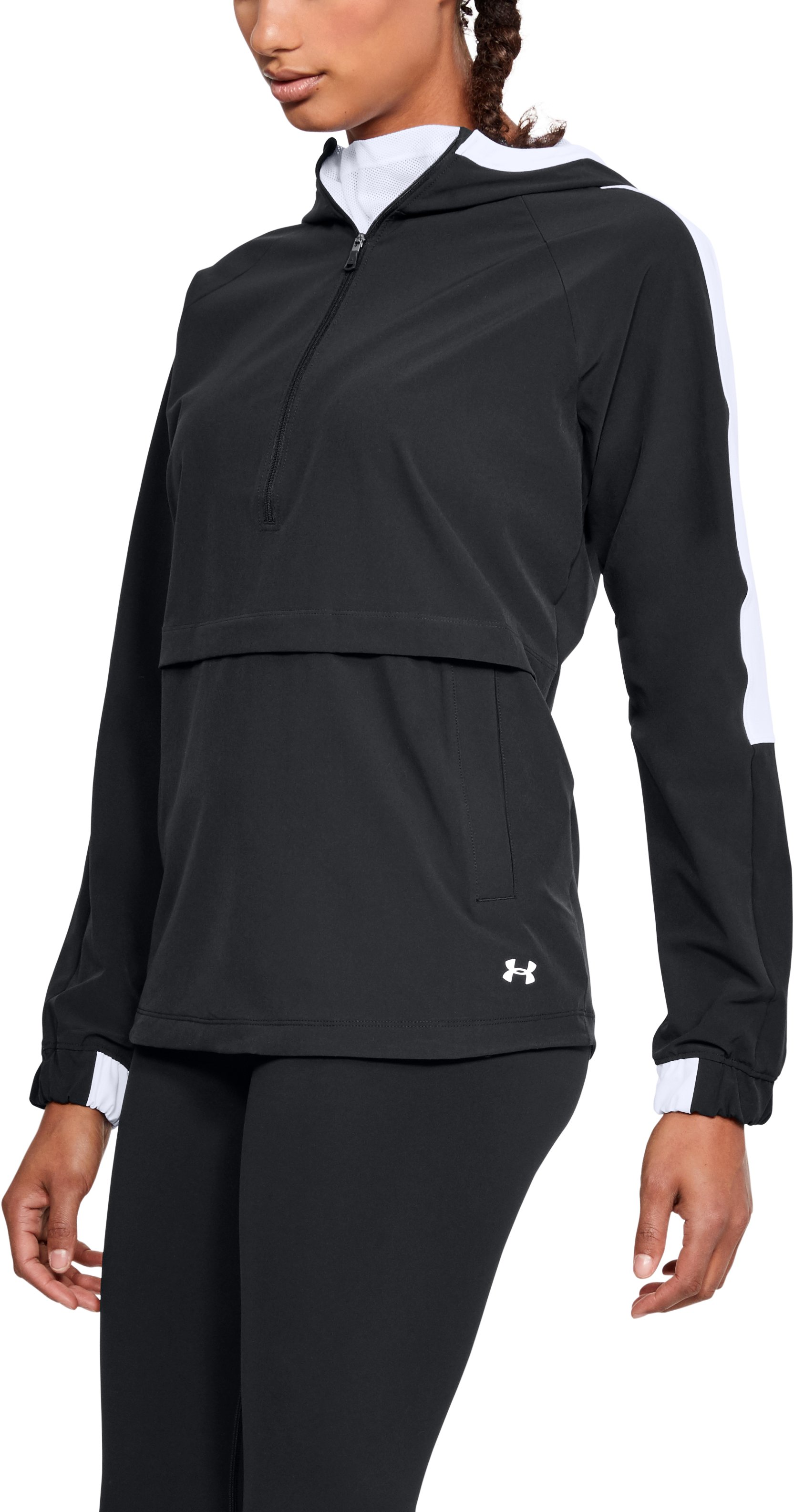 small jackets Women's UA Storm Woven Anorak Jacket This anorak is the best all around layering piece I've found....I love it!...I love how roomy it's (may be a tad bit too big, but I like that), and the white really looks nice with leggings.