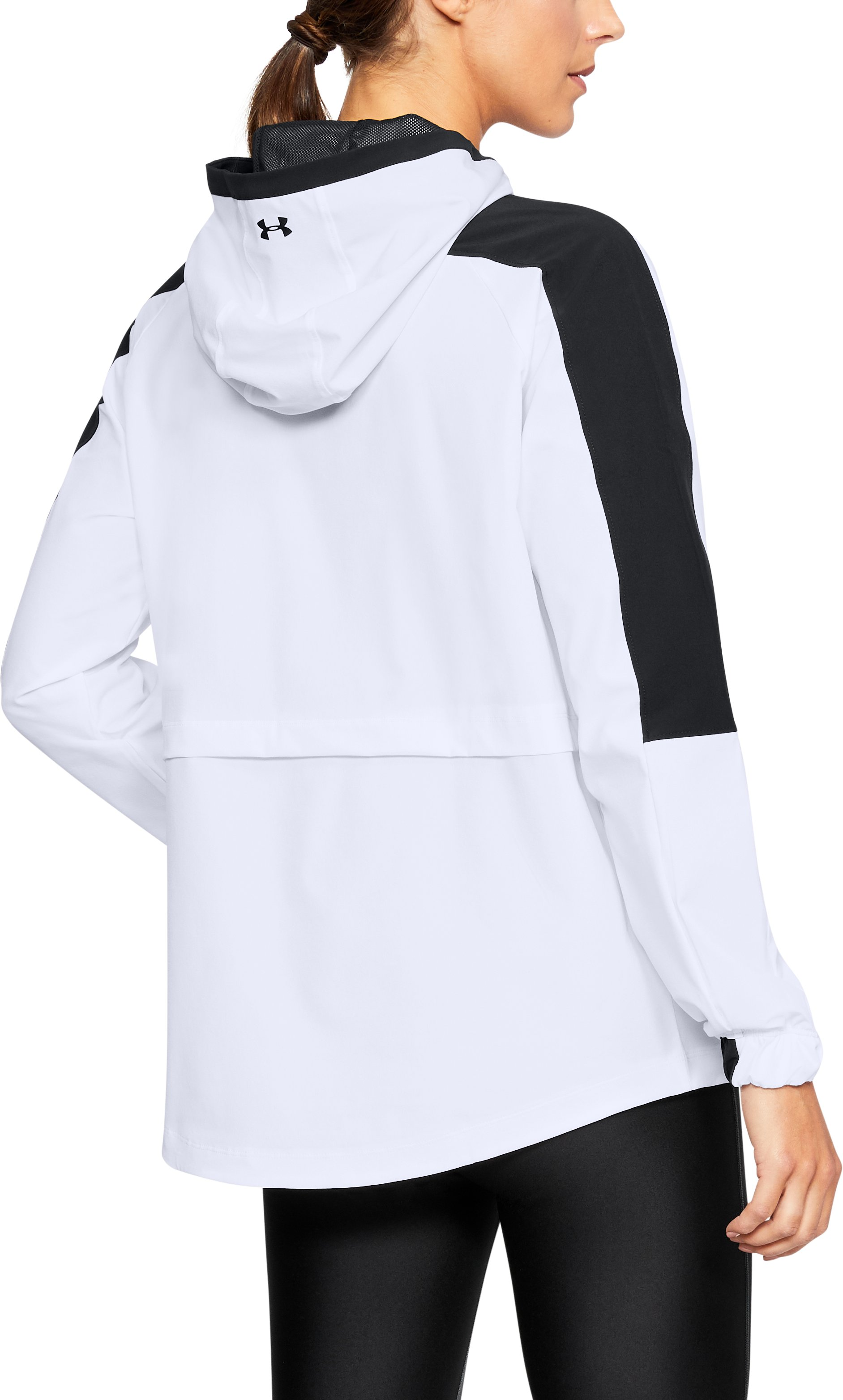 Women's UA Storm Woven Anorak Jacket, White, undefined