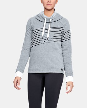 PRO PICK Women's UA Threadborne Fleece Fashion Hoodie LIMITED TIME OFFER 2 Colors $39.98