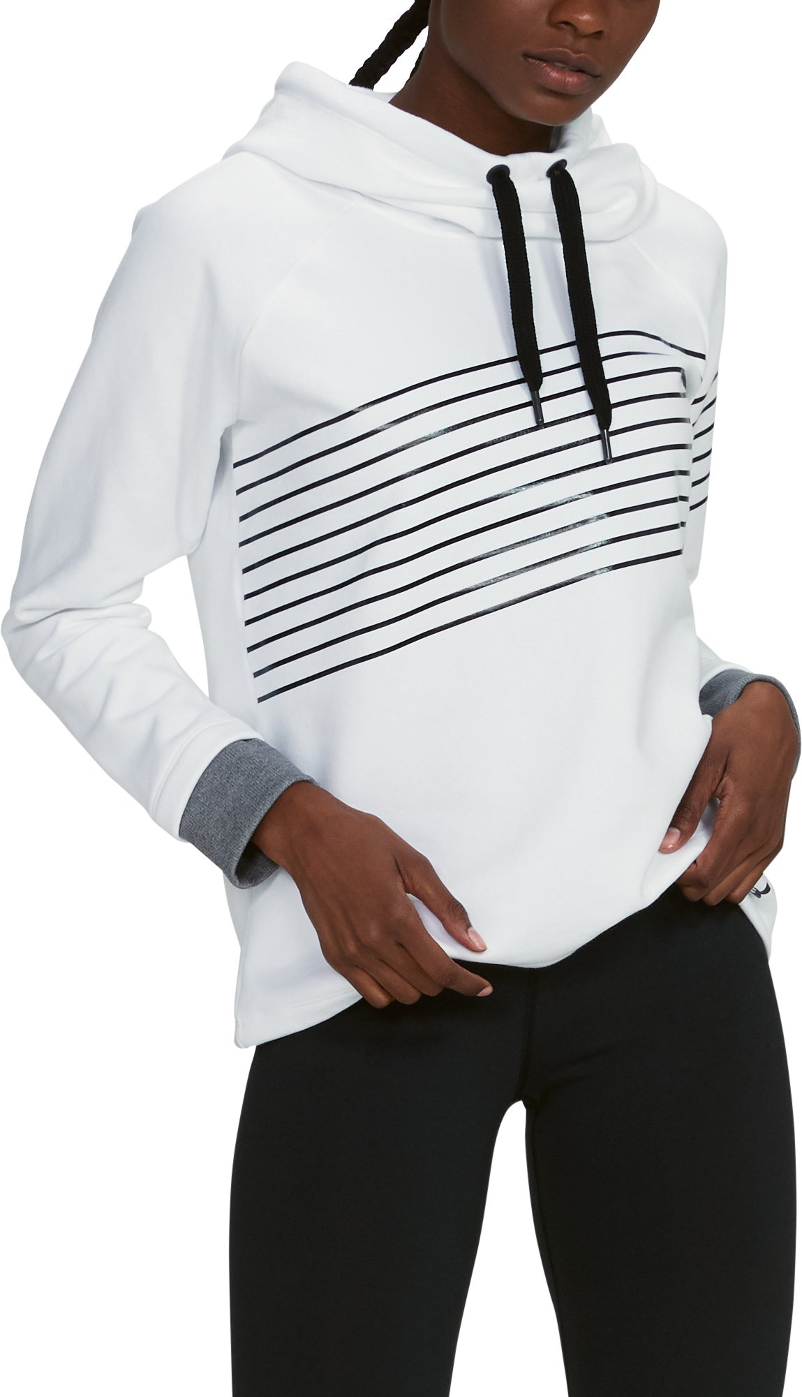 Women's UA Threadborne Fleece Fashion Hoodie, White,