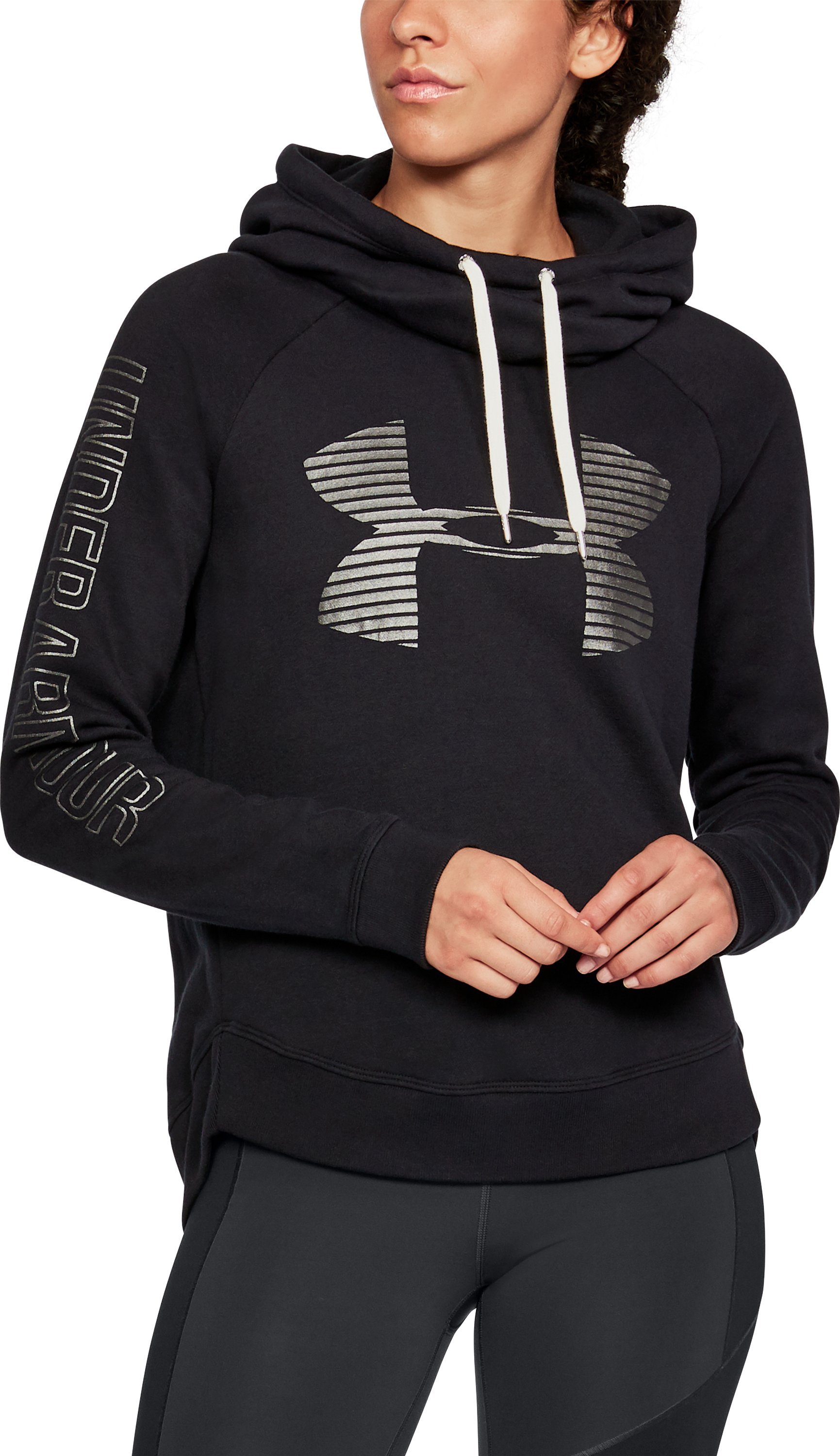Women's UA Favorite Fleece Pullover, Black ,