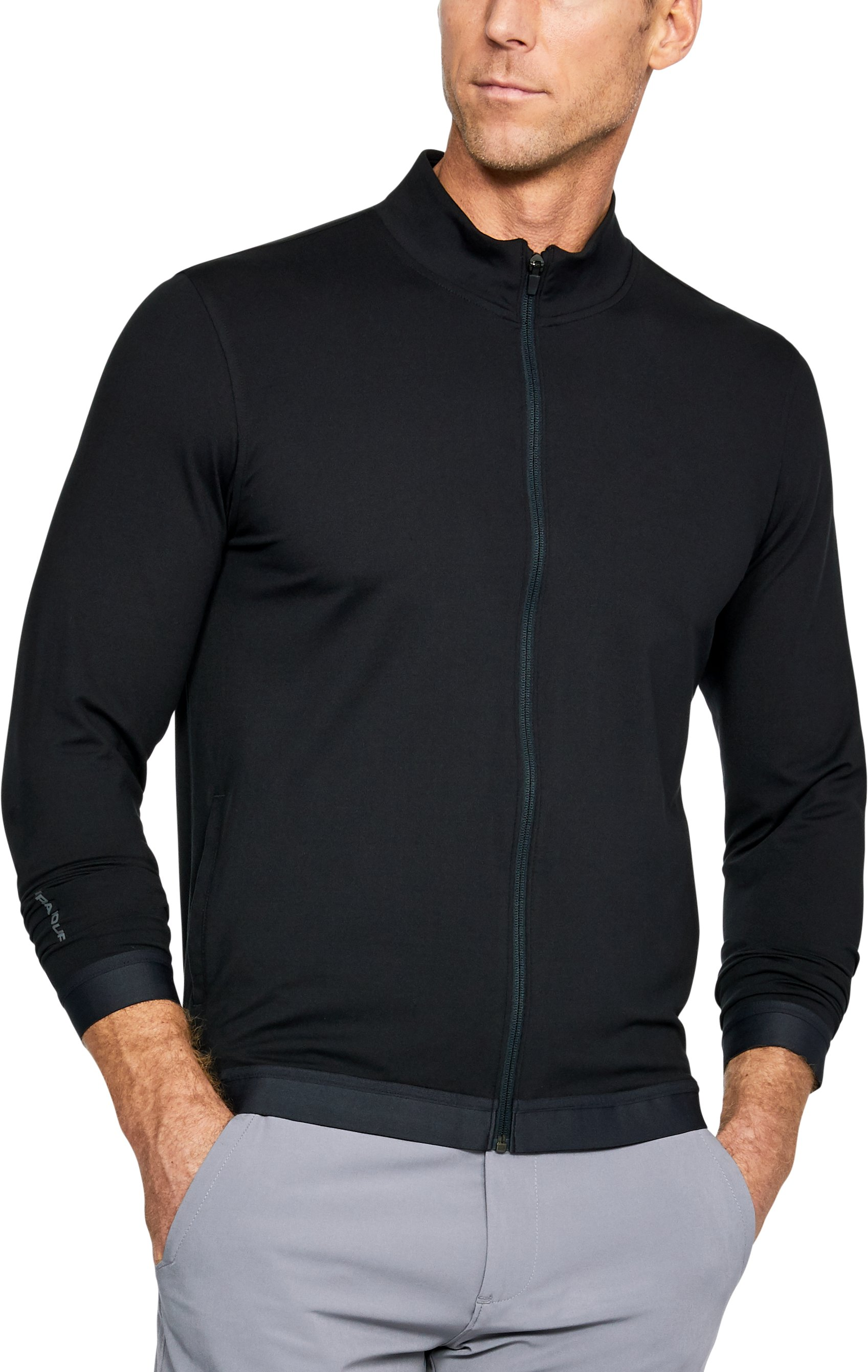Men's UA Playoff Full Zip, Black ,