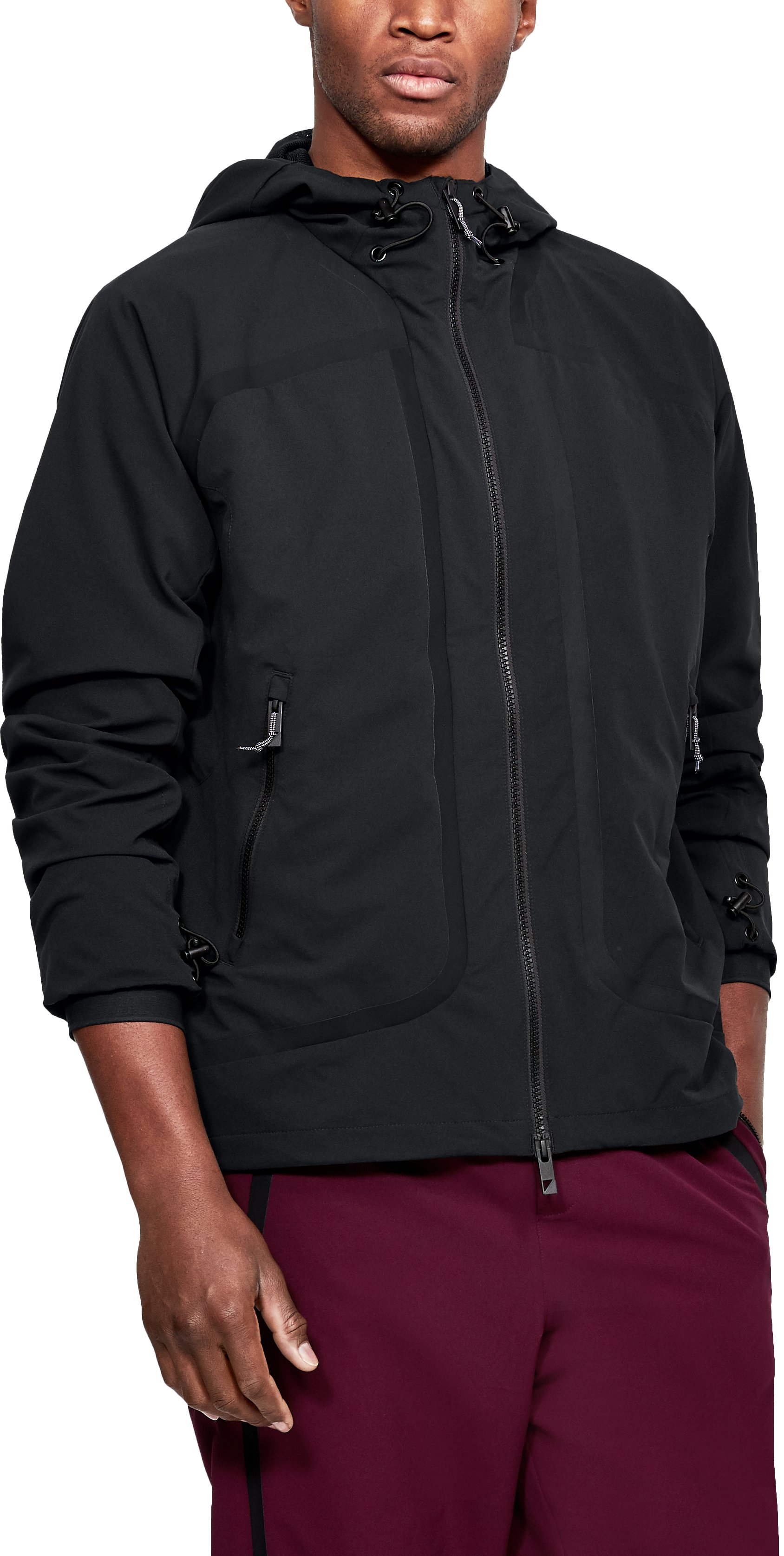 Men's UAS Track Jacket, Black ,