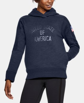 Women's UA Stars & Stripes Hoodie  1 Color $60