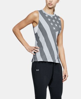 New Arrival Women's UA Top Step Flag Muscle Tank  2 Colors $30