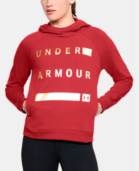 Women's UA Team Canada Performance Threadborne Terry Hoodie   $75