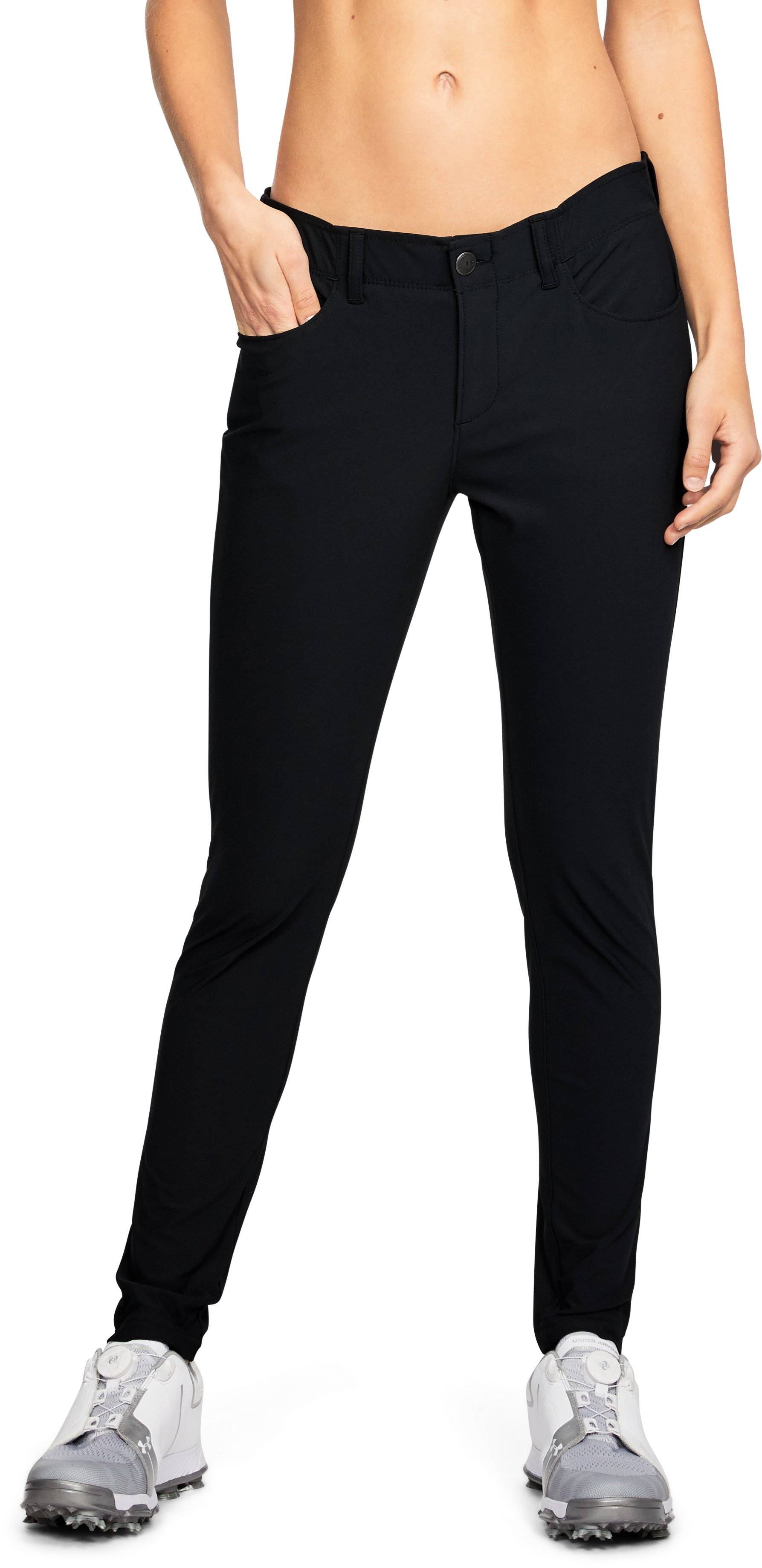 Women's UA Microthread 5-Pocket Pants, Black