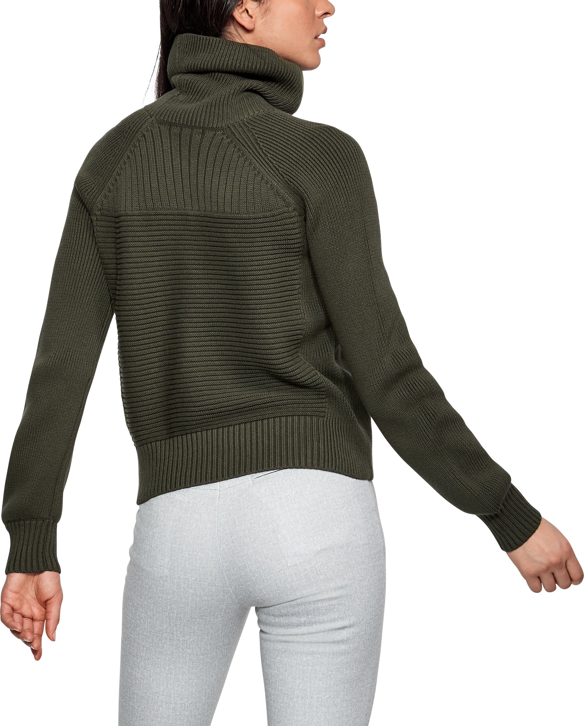 Women's UAS Turtleneck Sweater, MILITARY,