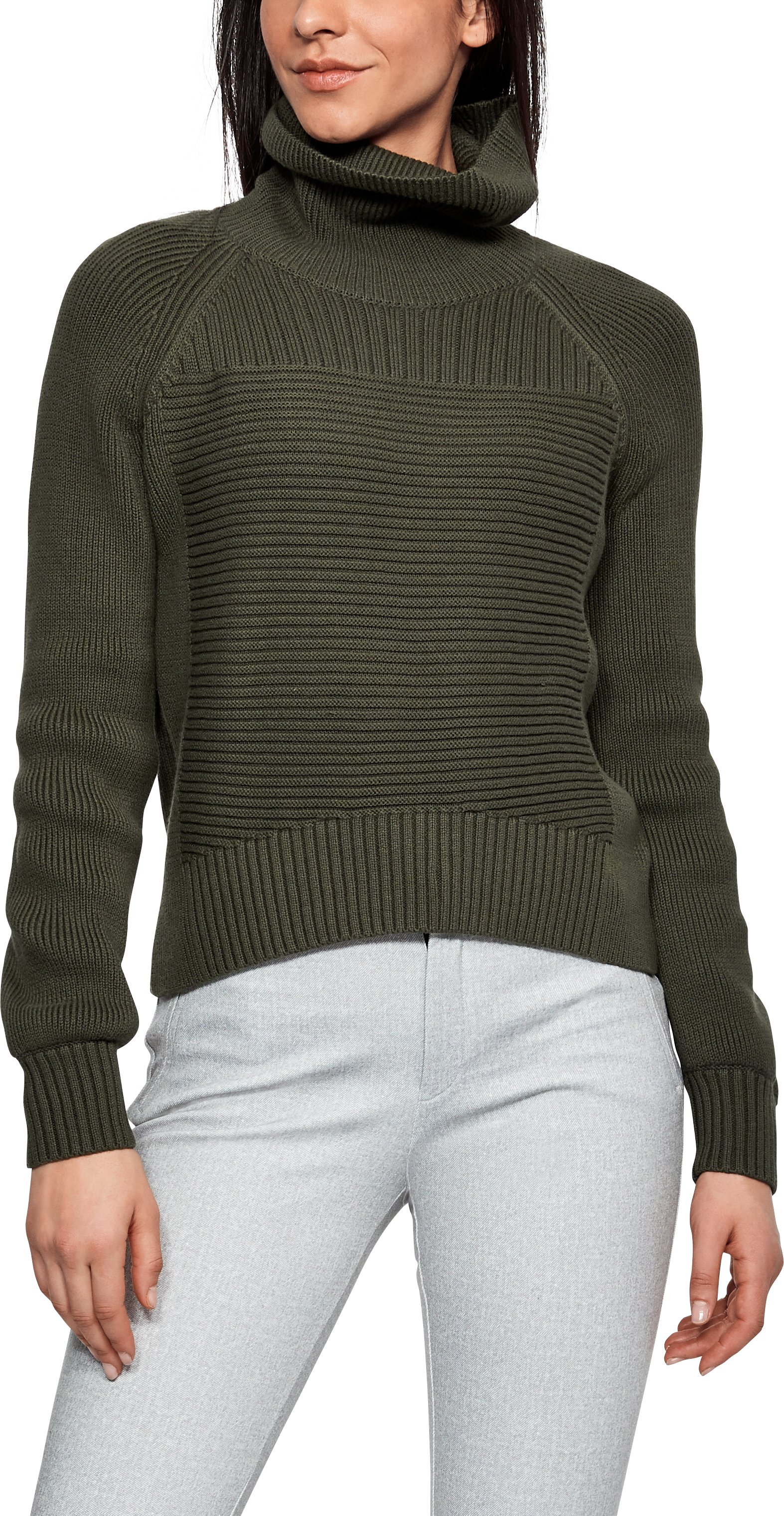 Women's UAS Turtleneck Sweater, MILITARY