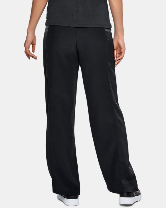 Women's UAS Wide Leg Track Pants, Black, pdpMainDesktop image number 2