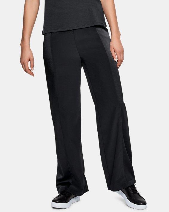 Women's UAS Wide Leg Track Pants, Black, pdpMainDesktop image number 0