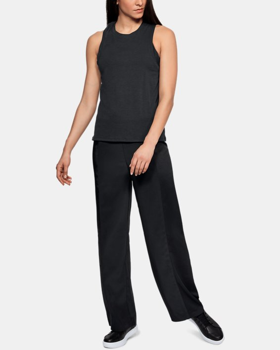 Women's UAS Wide Leg Track Pants, Black, pdpMainDesktop image number 1