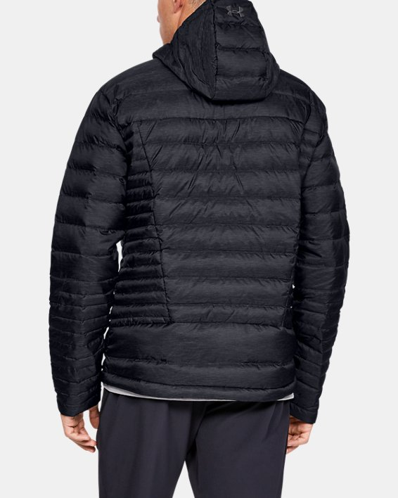 Men's UA Iso Down Hooded Jacket, Black, pdpMainDesktop image number 2