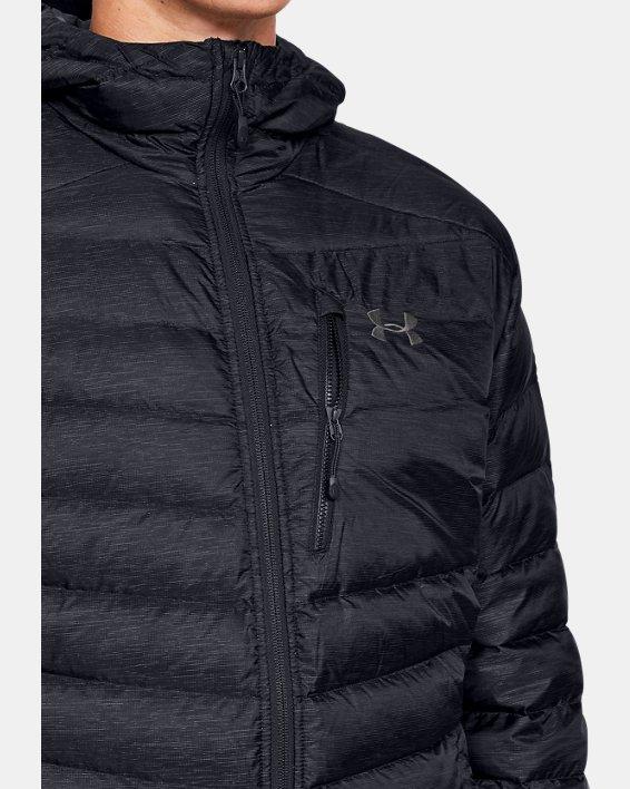 Men's UA Iso Down Hooded Jacket, Black, pdpMainDesktop image number 5