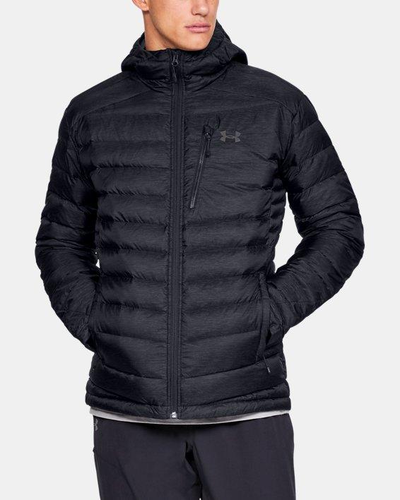 Men's UA Iso Down Hooded Jacket, Black, pdpMainDesktop image number 0