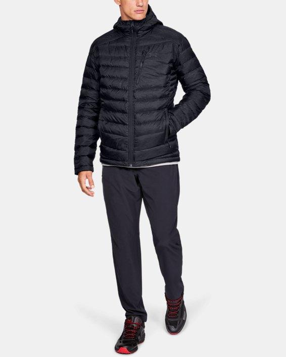 Men's UA Iso Down Hooded Jacket, Black, pdpMainDesktop image number 1