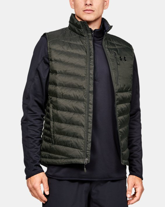 Men's UA Iso Down Vest, Green, pdpMainDesktop image number 0