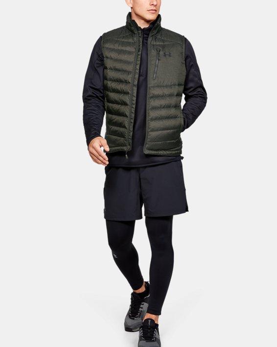 Men's UA Iso Down Vest, Green, pdpMainDesktop image number 1